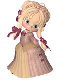 Cute Little Toon Princess Stock Image