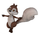 Cute little toon squirrel Stock Image