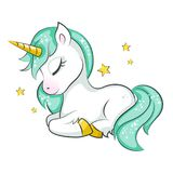 Cute Little Unicorn. Royalty Free Stock Image