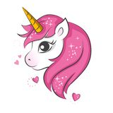 Cute little unicorn. Cute magical unicorn. Vector design on white background. Print for t-shirt. Romantic hand drawing illustration for children