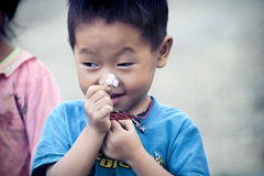 Cute little Vietnamese boy Stock Photography