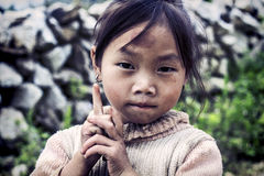 Cute little Vietnamese girl Stock Image