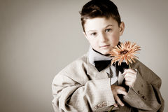 Cute little vintage boy Royalty Free Stock Image