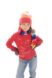 Cute little winter girl 2 Royalty Free Stock Photos