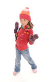 Cute little winter girl Royalty Free Stock Photo
