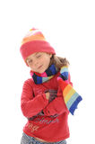 Cute little winter girl 3 Stock Photography
