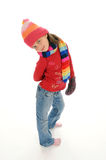 Cute little winter girl 4 Royalty Free Stock Photos