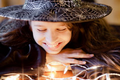 Cute little witch Royalty Free Stock Photography