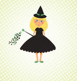 Cute Little Witch Background Royalty Free Stock Photo