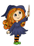 Cute little witch Royalty Free Stock Image
