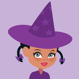 African American Halloween Witch Portrait Stock Images