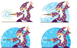 Cute little wizard Stock Photo