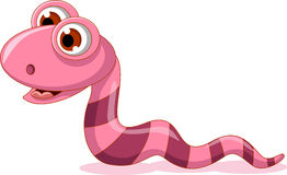 Cute little worm cartoon smiling Royalty Free Stock Photo