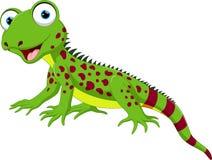 Cute lizard cartoon Royalty Free Stock Image