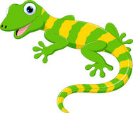Cute lizard cartoon. Vector illustration cute lizard cartoon isolated on white background stock illustration