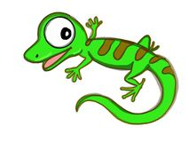 Cute lizard illustration cartoon drawing drawing illustration white background. Cute lizard illustration cartoon drawing  drawing coloring and white background Royalty Free Stock Images