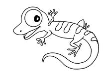Cute lizard illustration cartoon drawing drawing illustration white background. Cute lizard illustration cartoon drawing  drawing coloring and white background Stock Images