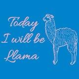 Cute llama or alpaca illustration Stock Photos