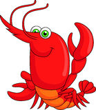 Cute lobster cartoon Stock Image