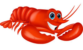 Cute lobster cartoon Royalty Free Stock Photography