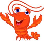 Cute lobster cartoon presenting Stock Photos