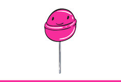 Cute Lollipop Illustration Royalty Free Stock Photography
