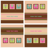 Cute lollipops cards Royalty Free Stock Photos