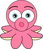 Cute Looking Cartoon Octopus Royalty Free Stock Images