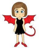 Cute looking devil girl Royalty Free Stock Photo