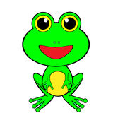 Cute Looking Green Happy Frog Royalty Free Stock Image