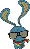 Cute looking hipster bunny Royalty Free Stock Photography