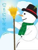 Cute looking Snowman Stock Photos