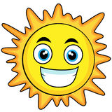 Cute looking sun Royalty Free Stock Photography