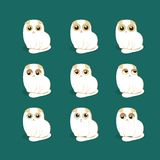 Cute lop-eared kitten emotional icons vector Royalty Free Stock Images