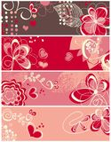 Cute love banners Royalty Free Stock Images