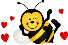 Cute Love Bee. Scalable vectorial image representing a cute love bee, isolated on white Stock Photography