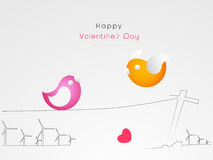 Cute love bird for Happy Valentines Day celebration. Royalty Free Stock Photos