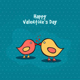 Cute Love Birds couple for Valentine's Day. Royalty Free Stock Image