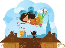 Cute Love Fairy cartoon vector Stock Photo