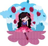 Cute Love Fairy cartoon vector Stock Photos