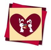 Cute Love Rabbit Royalty Free Stock Photos