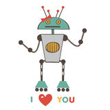 Cute love robot Royalty Free Stock Photography