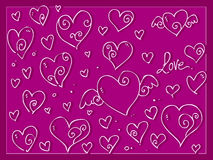Cute love Valentine day's hearts background Stock Image