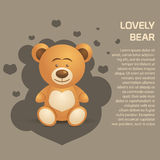 Cute and Lovely Bear illustration.  Royalty Free Stock Images
