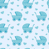 Cute and lovely blue baby background seamless pattern cartoon illustration Royalty Free Stock Image