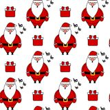 Cute lovely cartoon santa claus seamless vector pattern background illustration Royalty Free Stock Photos
