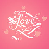 Cute lovely lettering Stock Image