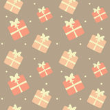 Cute lovely pastel presents seamless pattern background illustration Royalty Free Stock Images