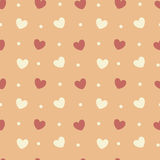 Cute lovely seamless pattern background illustration with romantic hearts Stock Photos