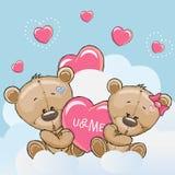 Cute Lovers Bears Stock Image